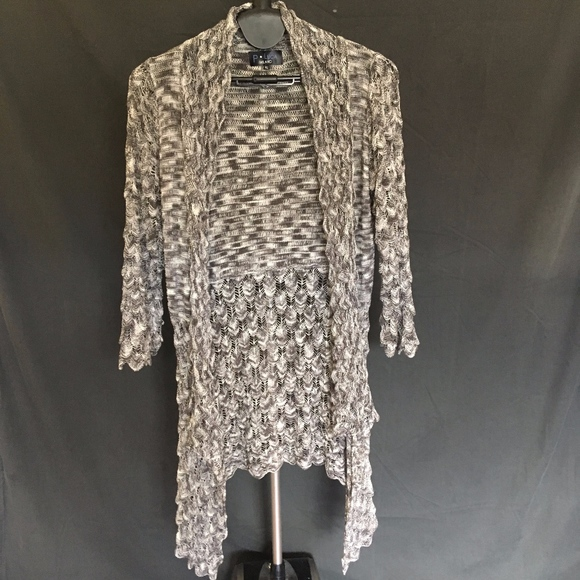 p luca milano Sweaters - P Luca Milano Duster Black Gray White Cardigan- XL